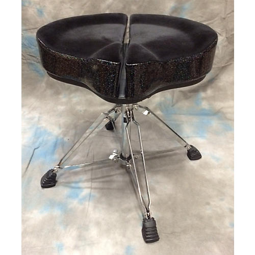 Ahead Spinal Glide Black Cloth Top And Black Sparkle Top Drum Throne-thumbnail