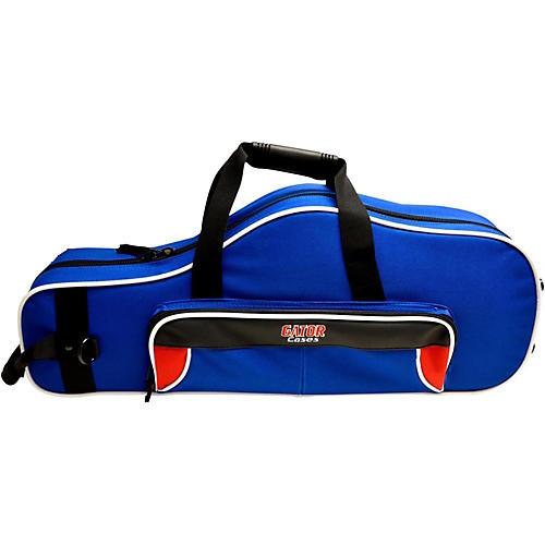 Gator Spirit Series Lightweight Alto Saxophone Case Red and Blue