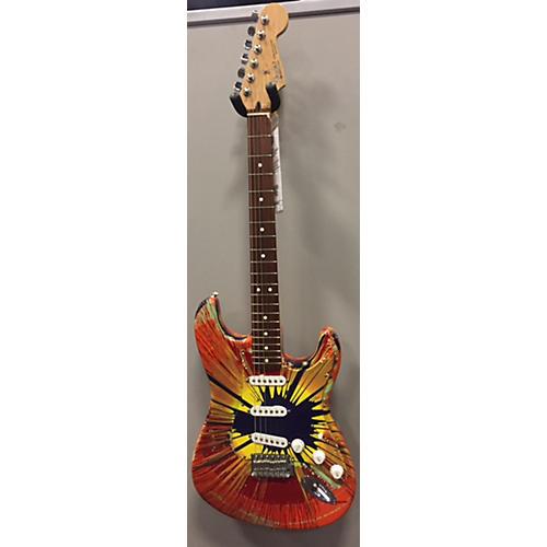 Fender Splattercaster Stratocaster Solid Body Electric Guitar red splatter