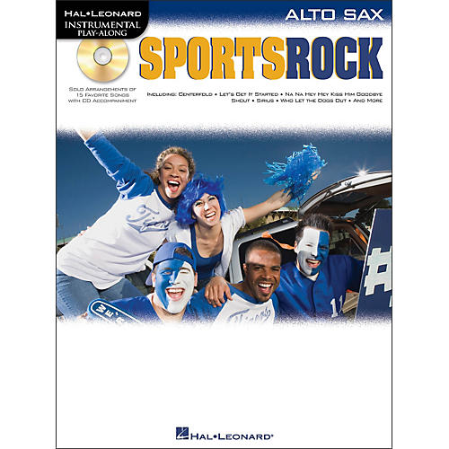 Hal Leonard Sports Rock for Alto Sax - Instrumental Play-Along Book/CD Pkg-thumbnail