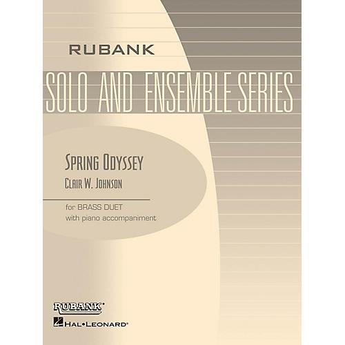 Rubank Publications Spring Odyssey (Brass Duet with Piano - Grade 3) Rubank Solo/Ensemble Sheet Series Book