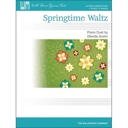 Willis Music Springtime Waltz - Later Elementary Piano Duet Sheet (1 Piano, 4 Hands) by Glenda Austin