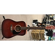 Art & Lutherie Spruce Burgundy Gt Qi Acoustic Electric Guitar