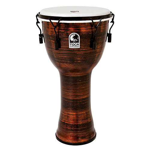Toca Spun Copper Mechanically Tuned Djembe-thumbnail