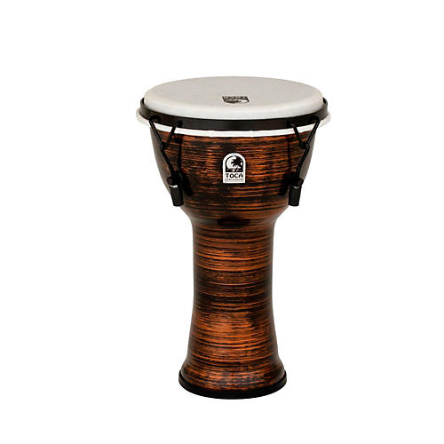 Toca Spun Copper Mechanically Tuned Djembe 10 in.-thumbnail