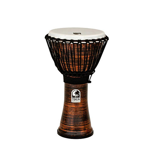 Toca Spun Copper Rope Tuned Djembe-thumbnail