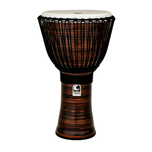 Toca Spun Copper Rope Tuned Djembe with Bag 14 in.