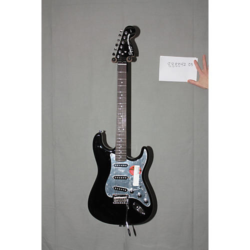 Used Squier Black & Chrome Special Edition Stratocaster Black Mirror with Black Hardware
