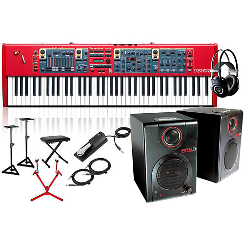 Nord Stage 2 76-Key with Matching Stand, RPM3 Monitors, Headphones, Bench, and Sustain Pedal