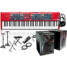 Nord Stage 2 76-Key with RPM3 Monitors, Headphones, Bench, Stand, and Sustain Pedal