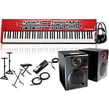 Nord Stage 2 88-Key with RPM3 Monitors, Headphones, Bench, Stand, and Sustain Pedal