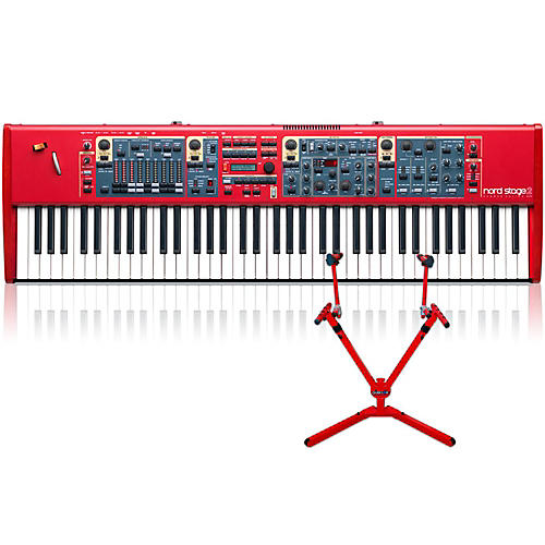 Nord Stage 2 HA76 with Matching 2-Tier Keyboard Stand-thumbnail