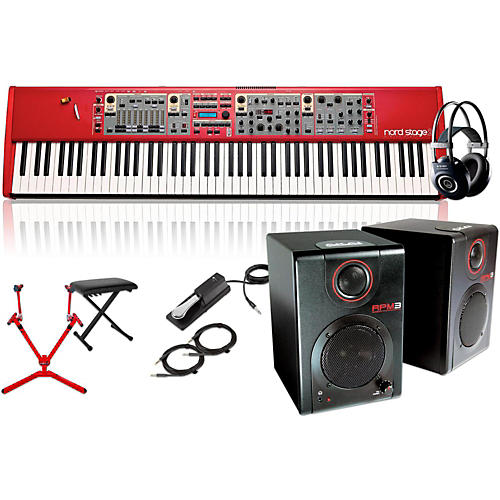 Nord Stage 2 HA88 88-Key with Matching Stand, RPM3 Monitors, Headphones, Bench, and Sustain Pedal