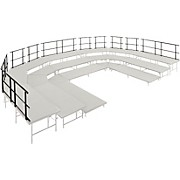 "Midwest Folding Products Stages & Seated Risers Guard Rails 30"" Long"