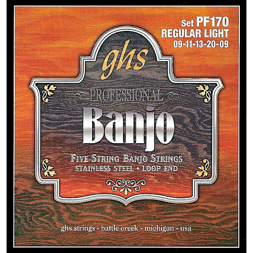GHS Stainless Steel 5-String Banjo Strings - Light