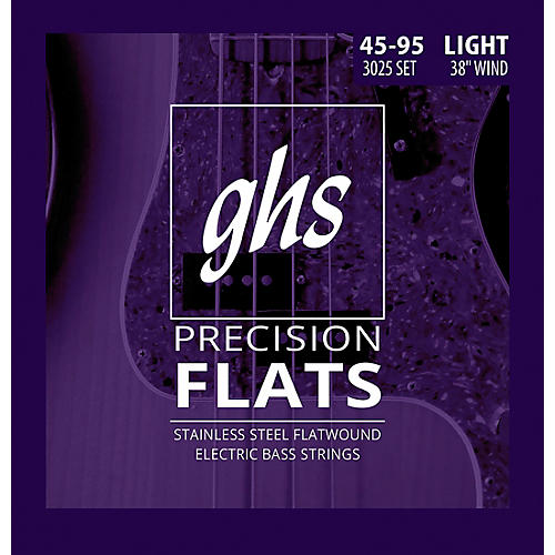 GHS Stainless Steel Precision Flatwound Electric Bass Strings-thumbnail