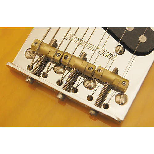 Hipshot Stainless Steel Tele Bridge 4-Hole Mount With Compensated Saddles-thumbnail