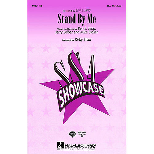 Hal Leonard Stand by Me SSA by Ben E. King arranged by Kirby Shaw