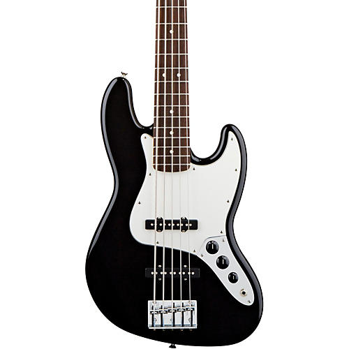 Fender Standard 5-String Jazz Bass Guitar Black Rosewood Fretboard