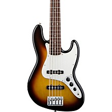Standard 5-String Jazz Bass Guitar Brown Sunburst Rosewood Fretboard