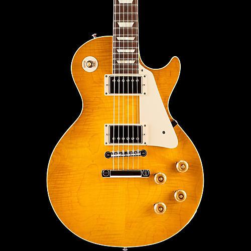 Gibson Custom Standard Historic 1958 Les Paul Plaintop Reissue Gloss Electric Guitar Lemon Burst