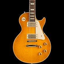 Gibson Custom Standard Historic 1958 Les Paul Plaintop Reissue VOS Electric Guitar Lemon Burst