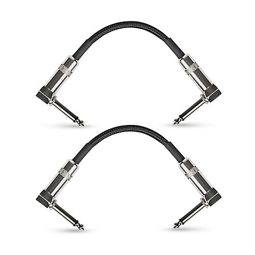 Musician's Gear Standard Instrument Patch Cable-6 in.-Black (2 Pack)-thumbnail