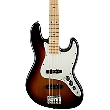 Standard Jazz Bass Guitar Brown Sunburst Gloss Maple Fretboard
