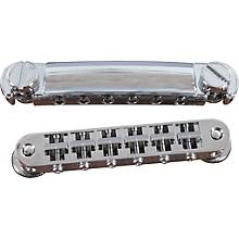 TonePros Standard Locking Tune-o-matic/Tailpiece Set (small posts/notched saddles) Level 1 Chrome