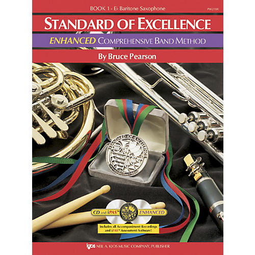 KJOS Standard Of Excellence Book 1 Enhanced Baritone Sax Band Method-thumbnail