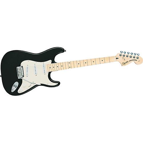 Squier Standard Stratocaster Electric Guitar Black Metallic Maple Fretboard
