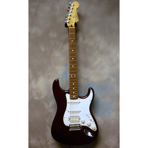 Fender Standard Stratocaster HSS Wine Red Solid Body Electric Guitar-thumbnail