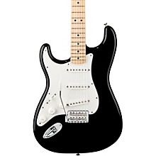 Standard Stratocaster Left Handed  Electric Guitar Black Gloss Maple Fretboard