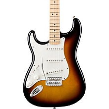 Standard Stratocaster Left Handed  Electric Guitar Brown Sunburst Gloss Maple Fretboard