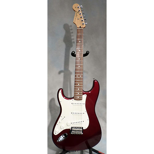 Fender Standard Stratocaster Left Handed Wine Red Electric Guitar-thumbnail