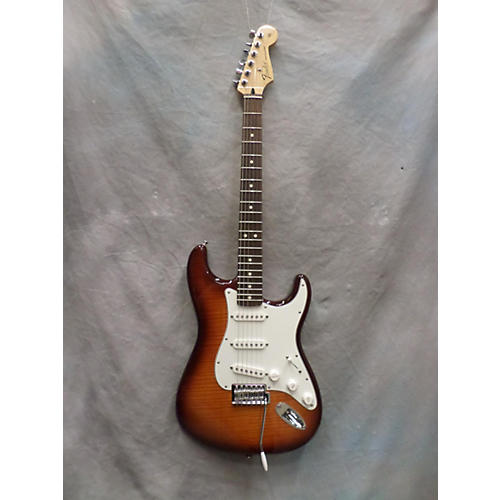 Fender Standard Stratocaster Plus Top Vintage Sunburst Flame Top Solid Body Electric Guitar-thumbnail