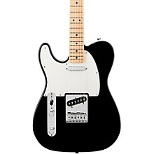 Standard Telecaster Left Handed  Electric Guitar Black Gloss Maple Fretboard
