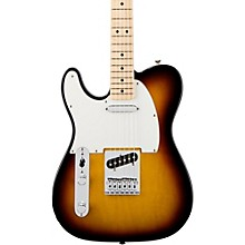 Standard Telecaster Left Handed  Electric Guitar Brown Sunburst Gloss Maple Fretboard