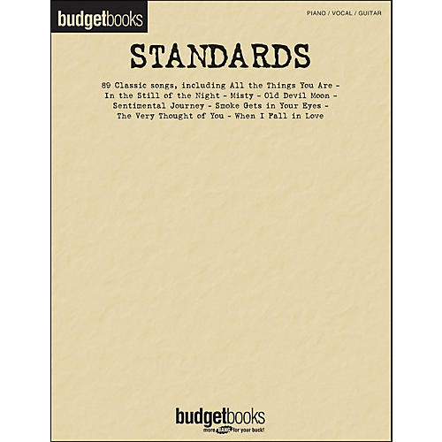 Hal Leonard Standards - Budget Book arranged for piano, vocal, and guitar (P/V/G)