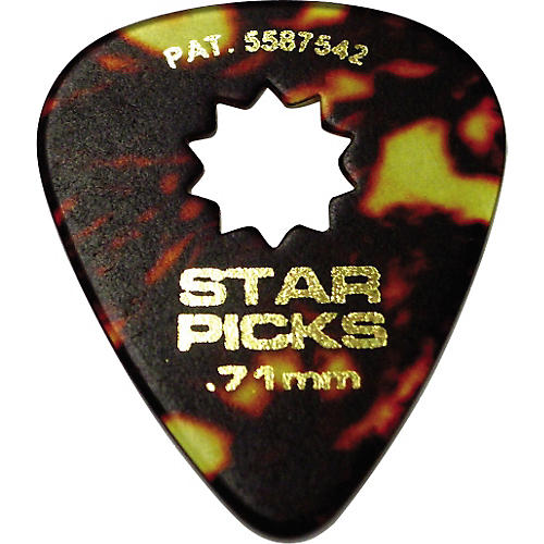 Everly Star Grip Classic Shell Celluloid Guitar Picks