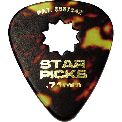Everly Star Grip Classic Shell Celluloid Guitar Picks Medium