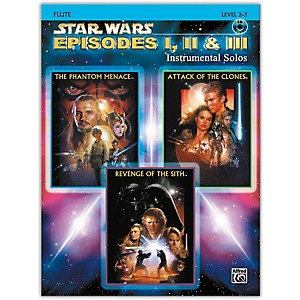 Alfred Star Wars: Episodes I, II and III Instrumental Solos Flute Book and CD by Alfred