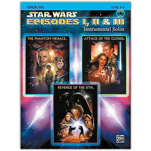 Alfred Star Wars: Episodes I, II & III Instrumental Solos Tenor Sax Book & CD-thumbnail