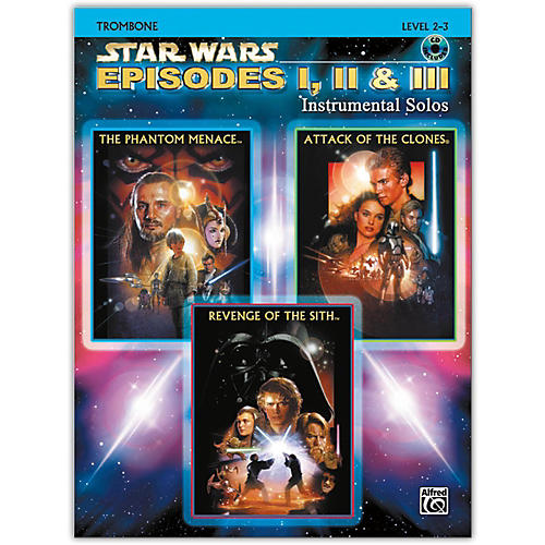Alfred Star Wars: Episodes I, II & III Instrumental Solos Trombone Book & CD-thumbnail