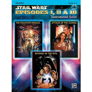 Alfred Star Wars Episodes I, II and III Instrumental Solos Trumpet Book/CD by Alfred
