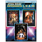 Alfred Star Wars: Episodes I, II & III Instrumental Solos for Strings Cello Book & CD