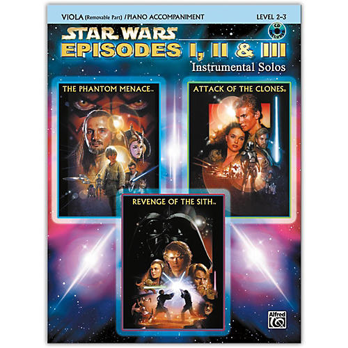 Alfred Star Wars: Episodes I, II & III Instrumental Solos for Strings Viola Book & CD-thumbnail