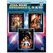 Alfred Star Wars: Episodes I, II & III Instrumental Solos for Strings Violin Book & CD
