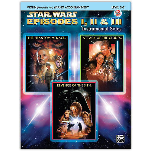 Alfred Star Wars: Episodes I, II & III Instrumental Solos for Strings Violin Book & CD-thumbnail