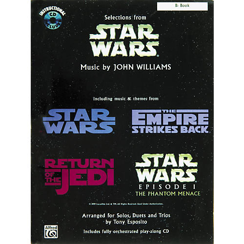 Alfred Star Wars Selections B-Flat Instrument Book & CD-thumbnail